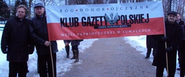 Marsz Pamięci Żołnierzy Wyklętych 1.03.2013 r. w Suwałkach