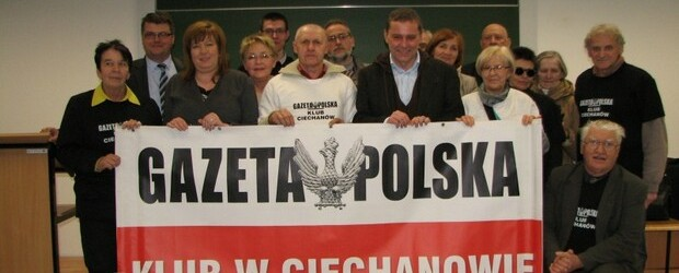 """Spotkania z red. Cezarym Gmyzem w Klubie """"GP"""" w Ciechanowie"""