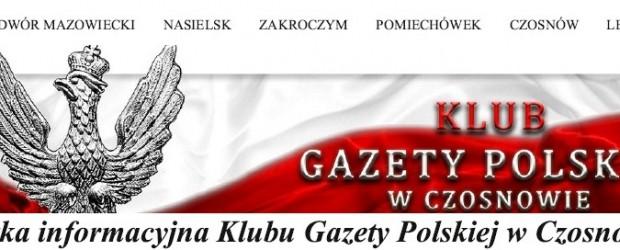 Ulotka informacyjna Klubu Gazety Polskiej w Czosnowie