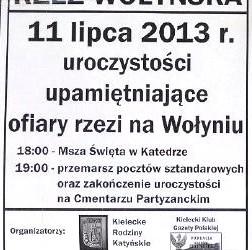 70 rocznica Rzezi Wołyńskiej – Kielce 11.07.2013 – Podziękowanie
