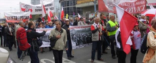 Protest antyrządowy w Warszawie
