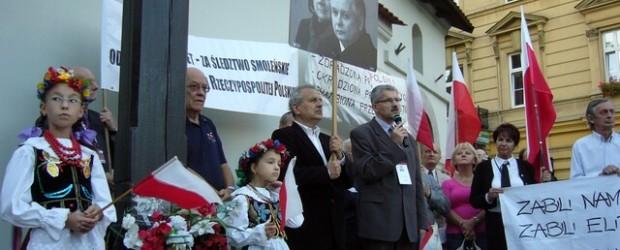 Kraków – 10 września 2013 r. – 41 miesięcy po Tragedii Smoleńskiej (wideo)