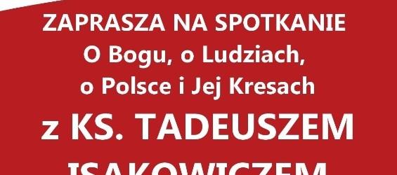 Myślenice – spotkanie z Ks. Tadeuszem Isakowiczem-Zaleskim, 17 września, g. 19,