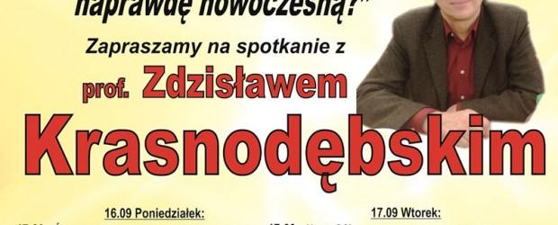 Świebodzin, Nowa Sól, Zielona Góra – spotkania z prof. Zdzisławem Krasnodębskim 16-17 września