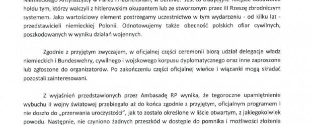 Wniosek – list otwarty NR 4 Polaków z Niemiec oraz odpowiedź