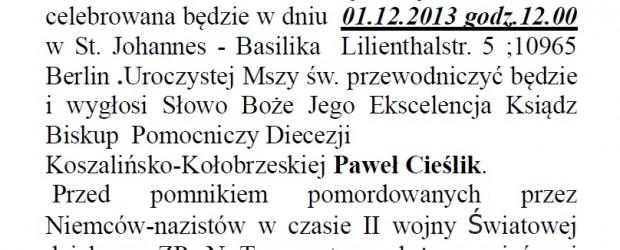 Uroczyste obchody 91-lecia ZPwN T.z. spod znaku Rodła-Berlin 1.12.2013