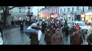 Marsz Niepodległości w Kielcach 9.11.2013  (wideo)