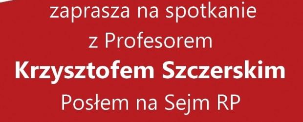 Myślenice – spotkanie z prof. Krzysztofem Szczerskim, 27 listopada, g. 19,