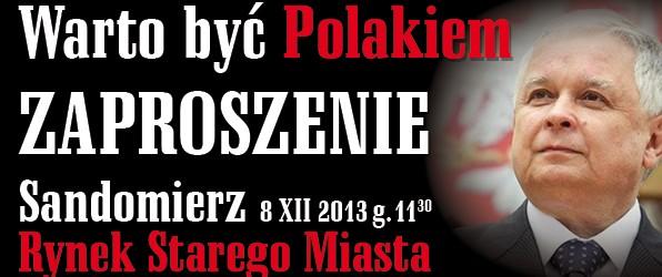"""Sandomierz – wystawa pt. """"Warto być Polakiem"""", 8 grudnia, g. 11.30"""