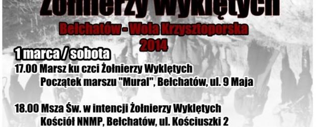 Program obchodów Dnia Żołnierzy Wyklętych – Bełchatów 2014