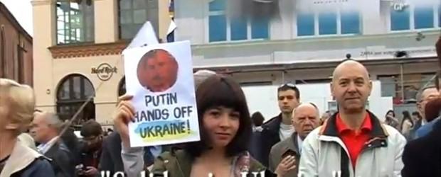 """""""Solidarni z Ukrainą""""- Manifestacja w Krakowie. (wideo)"""
