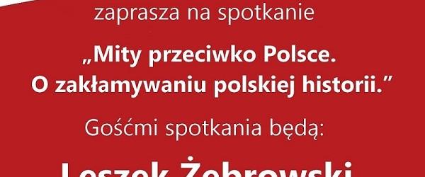 Myślenice – spotkanie z Leszkiem Żebrowskim oraz Ireneuszem T. Lisiakiem, 17 marca, g. 19,
