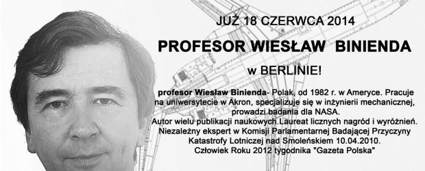 Prof. Wiesław Binienda w Berlinie 18 czerwca
