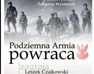 """Jasło – koncert P. Piekarczyka i L. Czajkowskiego pt. """"Żołnierze Wyklęci. Podziemna Armia Powraca"""