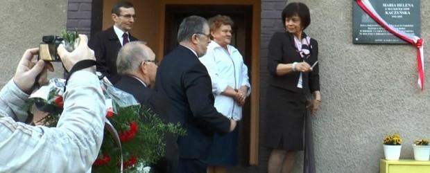 Odsłonięcie tablicy upamiętniającej śp. Marię Kaczyńską w Złotowie (wideo)
