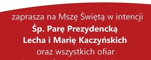 Myślenice – Msza św. w intencji Ofiar Tragedii Smoleńskiej, 6 kwietnia, g. 12.30