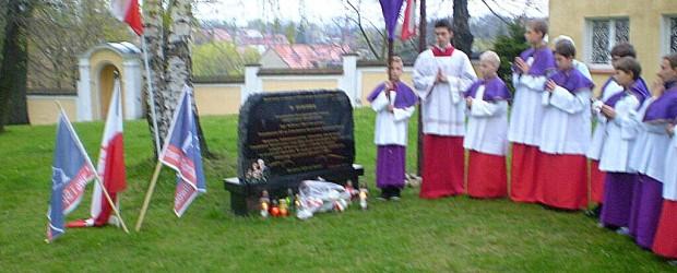 Uroczystości 4. rocznicy tragedii smolenskiej w Zabkowicach Śl.