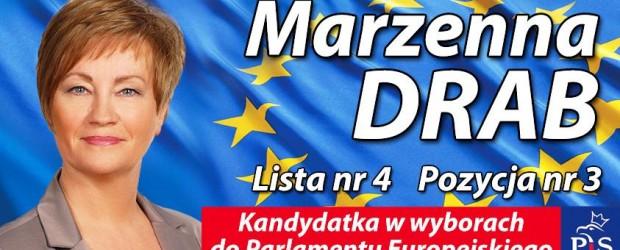 Grudziądz – spotkanie z kandydatami do PE, Marzenną Drab oraz Andrzejem Zybertowiczem, 19-20 maja