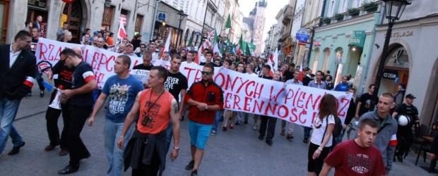 """""""Platforma, idziemy PO was!"""" Manifestacja w Krakowie (wideo)"""