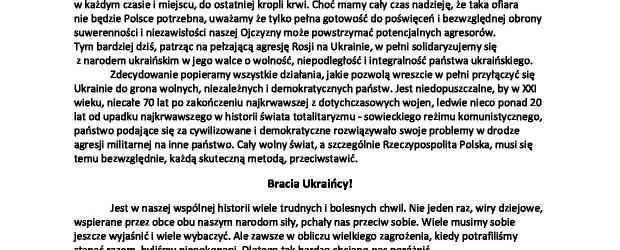 Oświadczenie Komendy Głównej Związku Strzeleckiego Rzeczypospolitej