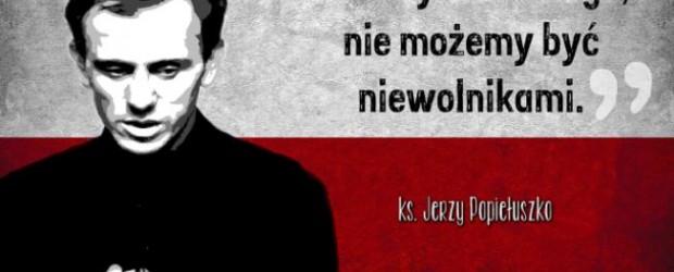 Łowicz: rocznica zabójstwa błogosławionego   księdza Jerzego Popiełuszki patrona NSZZ Solidarność