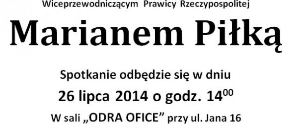 Wodzisław Śl. – spotkanie z posłem  Marianem Piłką, 26 lipca