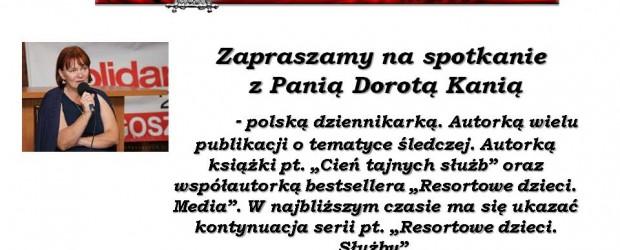 """Arhus- spotkanie z red. Dorotą Kanią, połączone z promocją książki """"Resortowe Dzieci. Media"""", 27 września"""