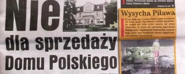 Apel w sprawie sprzedaży Domu Polskiego w Złotowie