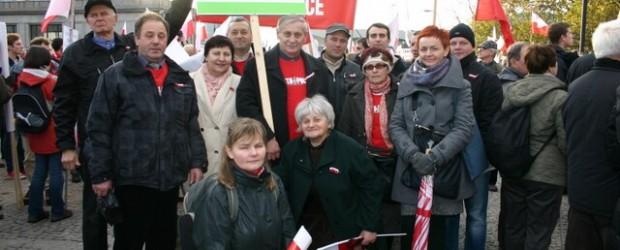 11 listopada 2012 w Chełmie oraz Marsz  Niepodległości w Warszawie