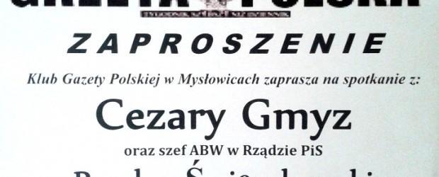 Mysłowice – spotkanie z Cezarym Gmyzem oraz szefem ABW w rządzie PiS Bogdanem Święczkowskim, 25 września