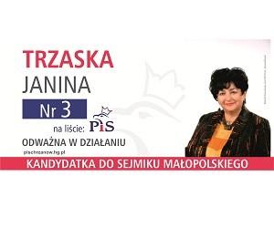 [Chrzanów] Janina Trzaska – kandydatka do Sejmiku Województwa Małopolskiego