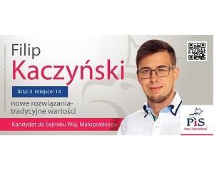 [Wadowice] Filip Kaczyński – kandydat do Sejmiku Woj. Małopolskiego