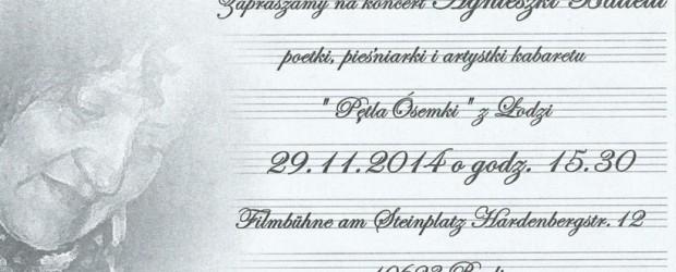 Berlin – koncert Agnieszki Battelli, 29 listopada, g. 15.30