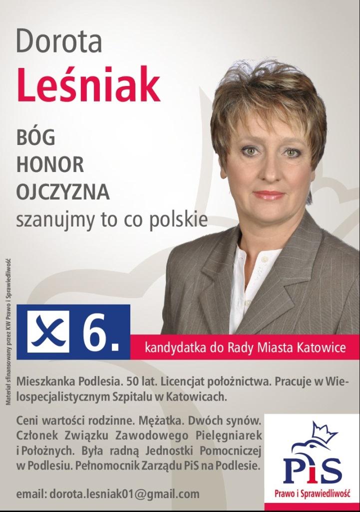 Katowice_Leśniak Dorota wybory2014