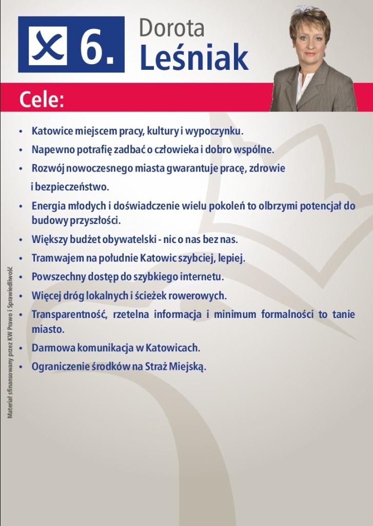 Katowice_Leśniak Dorota wybory2014a