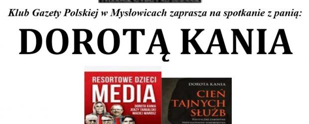 Mysłowice – spotkanie z red. Dorotą Kanią, 13 listopada,
