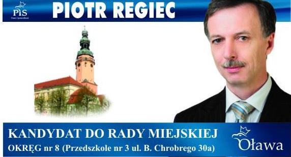 Oława_Piotr Regiec wybory2014
