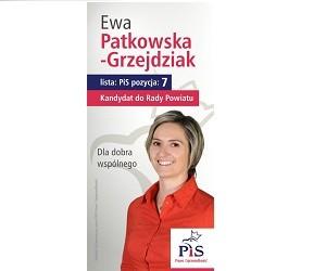 [Siedlce] Ewa Patkowska- Grzejdziak – kandydatka do Rady Powiatu