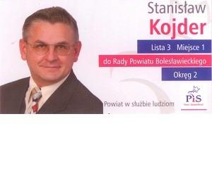 [Bolesławiec] Stanisław Kojder – kandydat do Rady Powiatu
