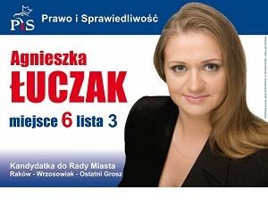 [Częstochowa] Agnieszak Łuczak – kandydatka do Rady Miasta