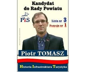 [Krajenka] Piotr Tomasz – kandydat do Rady Powiatu