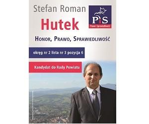 [Limanowa] Stefan Hutek – kandydat do Rady Powiatu