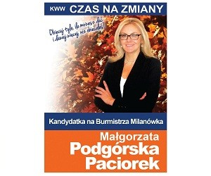 [Milanówek] Małgorzata Podgórska-Paciorek – kandydatka na Burmistrza
