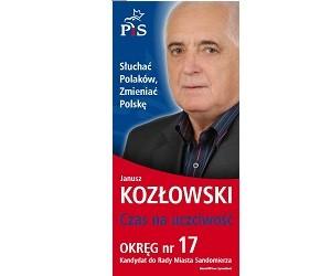 [Sandomierz] Janusz Kozłowski – kandydat do Rady Miasta
