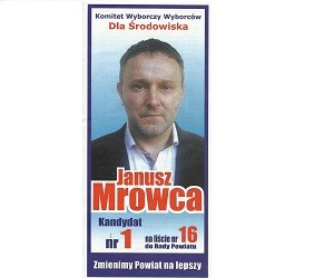 [Nowy Sącz] Janusz Mrowca – kandydat do Rady Powiatu
