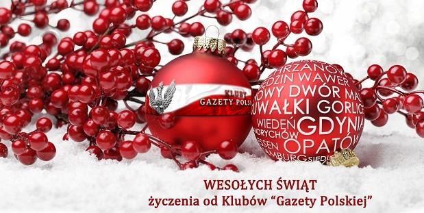 """Wesołych Świąt – życzenia od Klubów """"Gazety Polskiej"""""""