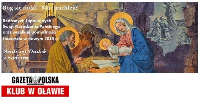 Oława - zyczenia 2014