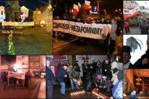 Obchody 57. miesięcznicq Tragedii Smoleńskiej w Polsce i na świecie