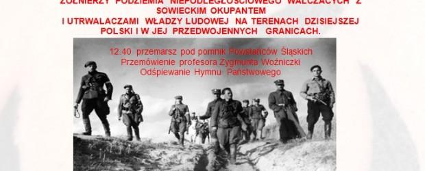 """Knurów –  Narodowy Dzień Pamięci """"Żołnierzy Wyklętych"""", 1 marca"""
