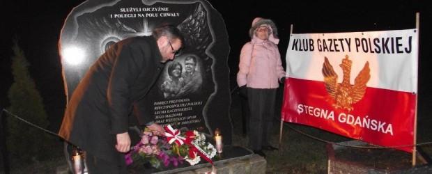 Miesięcznica tragedii smoleńskiej w Stegnie – 10 lutego 2015 r.